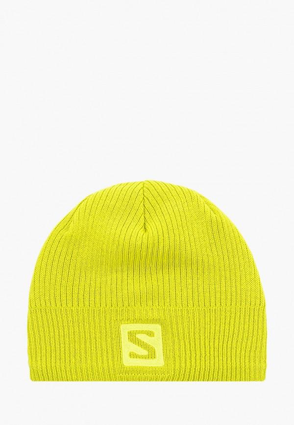 женская шапка salomon, зеленая