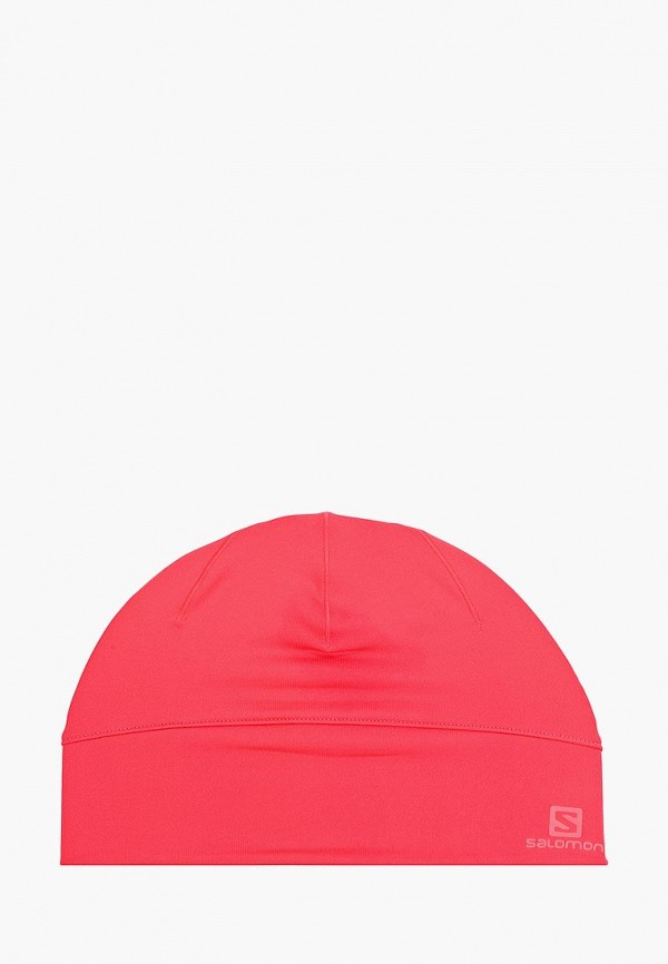 женская шапка salomon, розовая