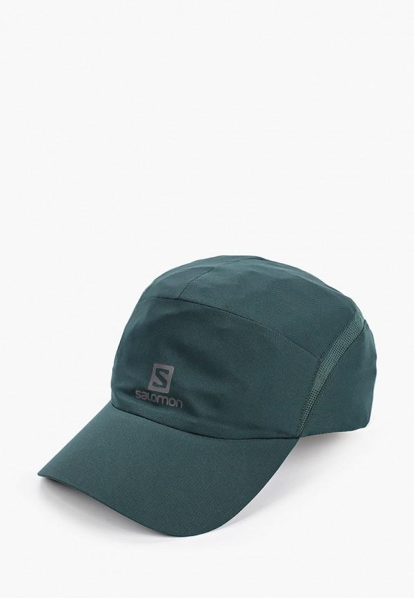 женская бейсболка salomon, зеленая