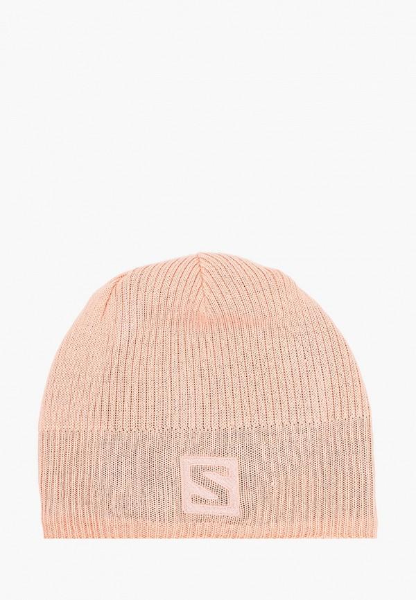женская шапка salomon, оранжевая