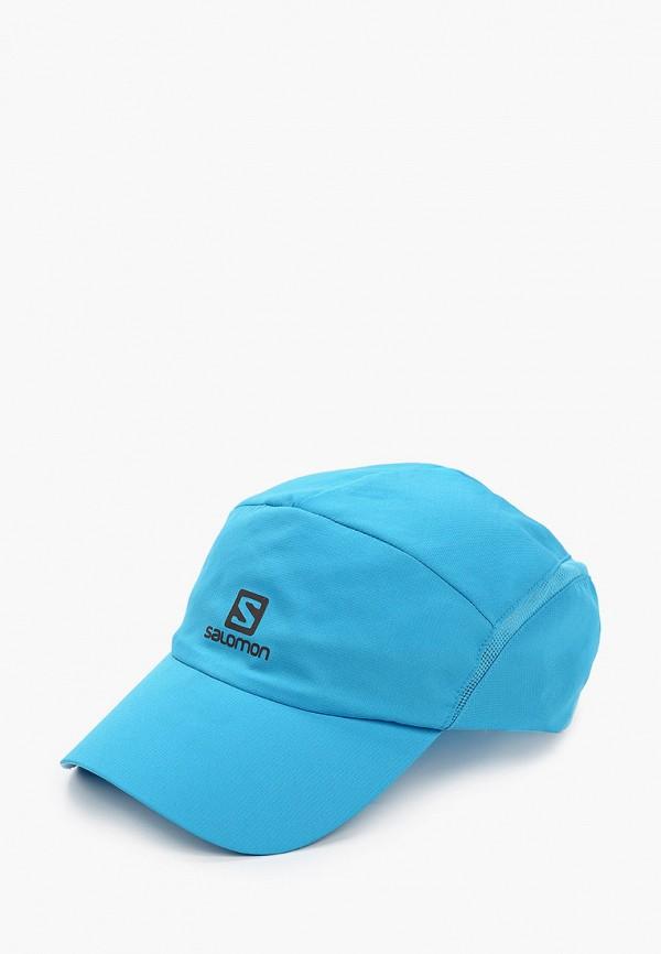 женская бейсболка salomon, голубая