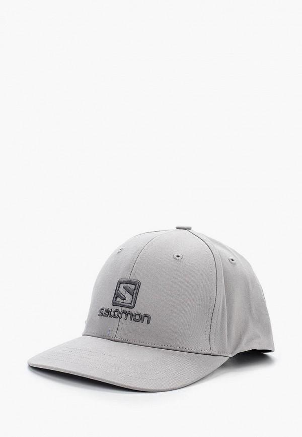 мужская бейсболка salomon, серая