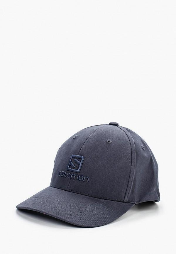 женская бейсболка salomon, синяя