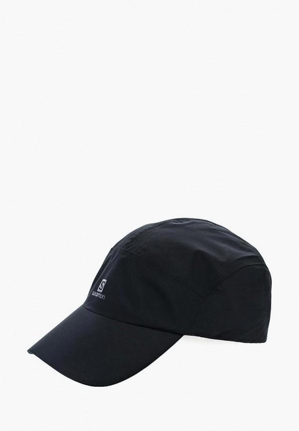 женская бейсболка salomon, черная