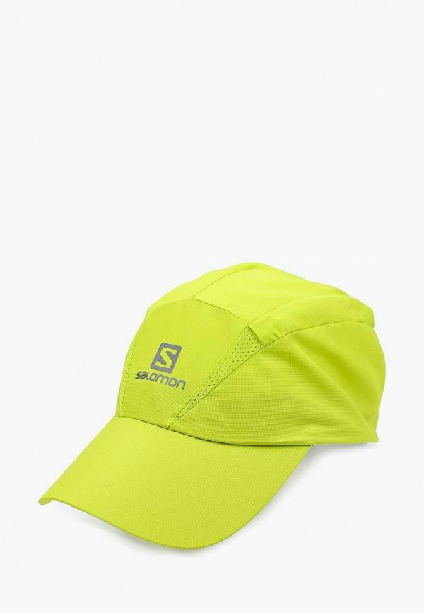 женская бейсболка salomon, желтая