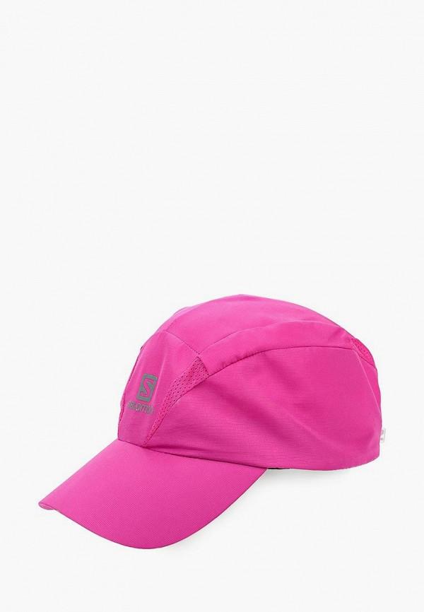 женская бейсболка salomon, розовая