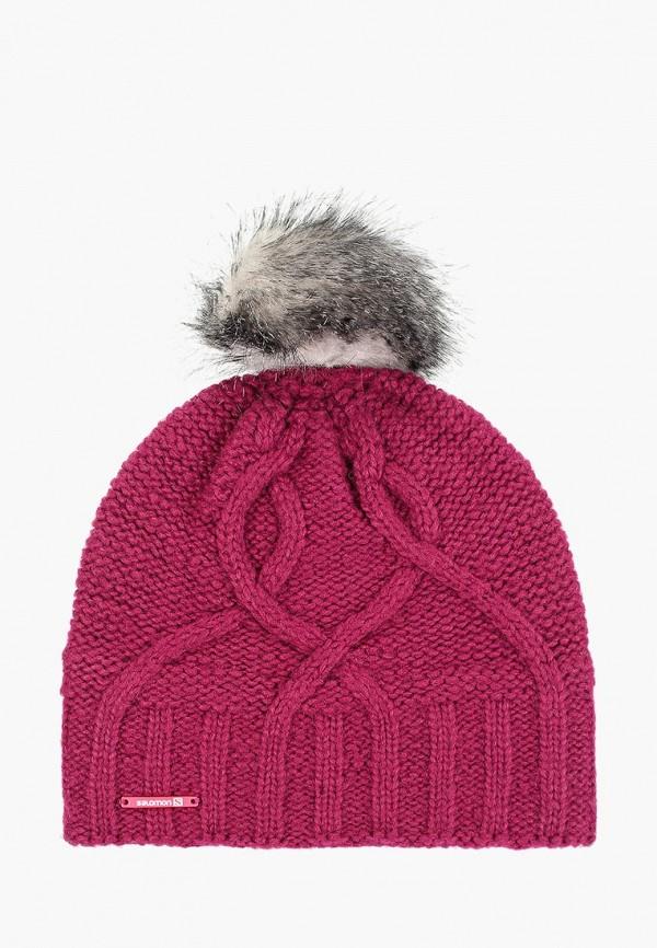 мужская шапка salomon, фуксия