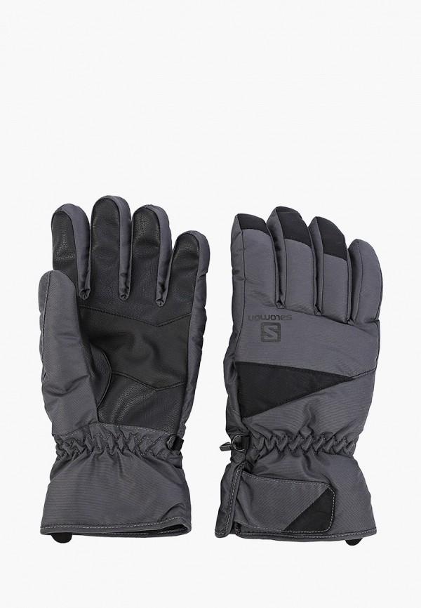 мужские перчатки salomon, серые