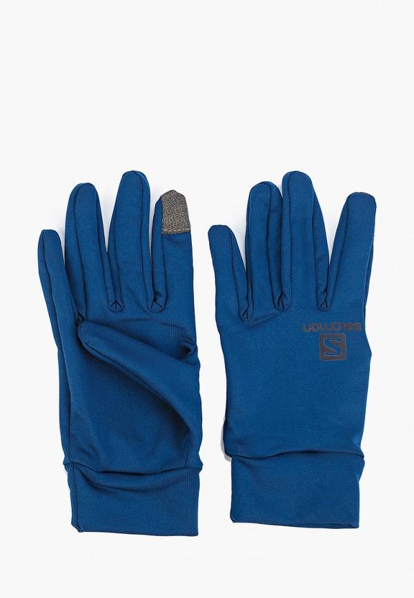 женские перчатки salomon, синие