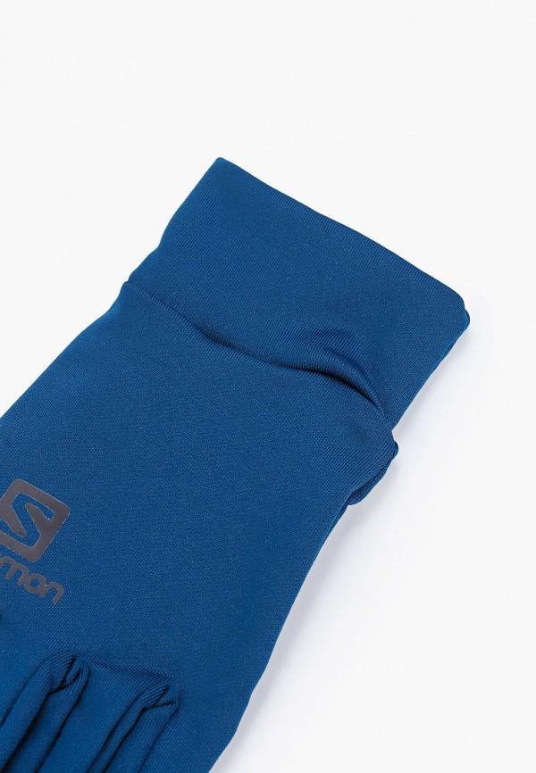 Фото 2 - Перчатки Salomon синего цвета