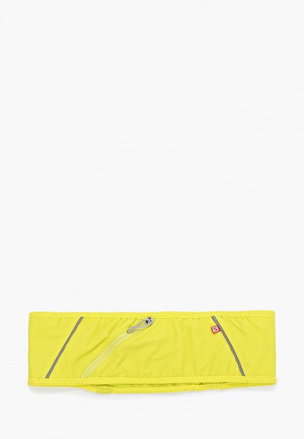 Фото 2 - Пояс для бега Salomon желтого цвета