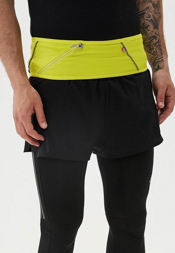 Фото 4 - Пояс для бега Salomon желтого цвета