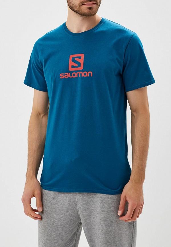 Купить Футболка Salomon, COTON LOGO SS TEE M, SA007EMBOIH5, синий, Осень-зима 2018/2019