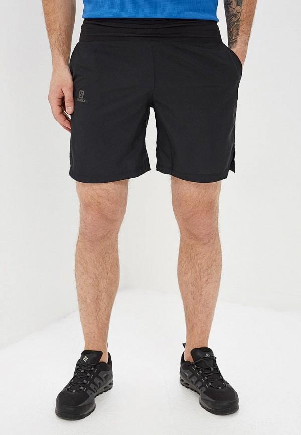 мужские спортивные спортивные шорты salomon, черные