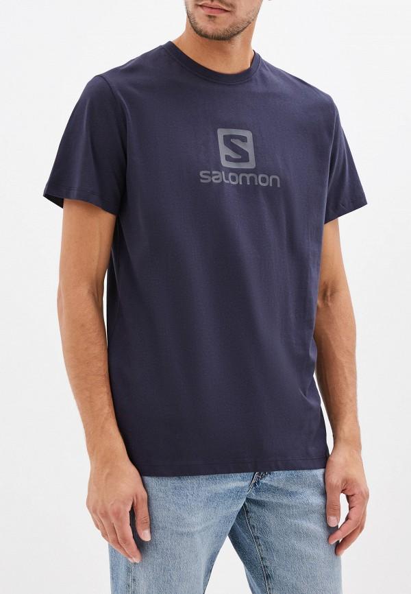 мужская футболка salomon, синяя