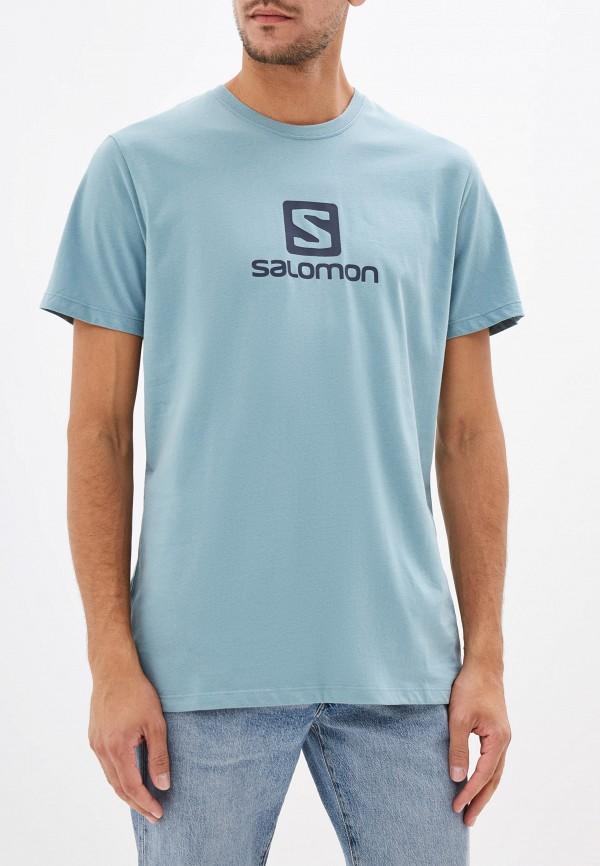 мужская футболка salomon, бирюзовая