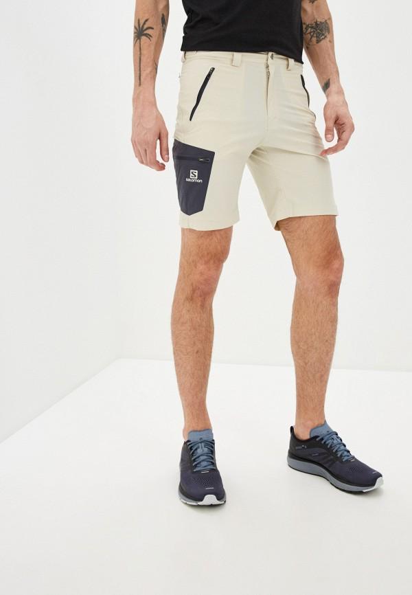 мужские спортивные шорты salomon, бежевые
