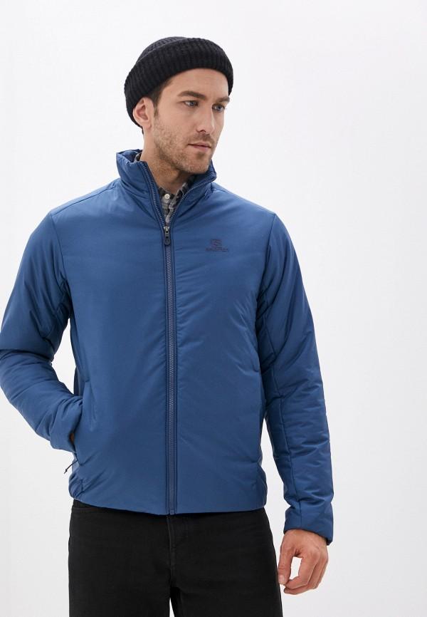 мужская куртка salomon, синяя