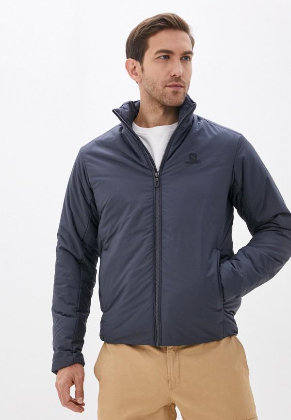 мужская куртка salomon, серая
