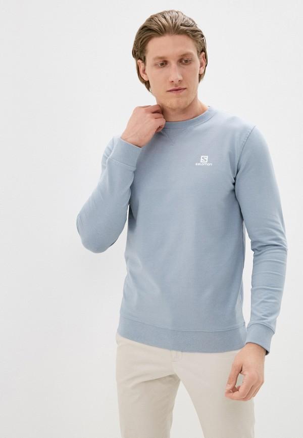 мужской свитшот salomon, голубой