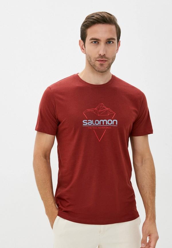мужская спортивные футболка salomon, красная