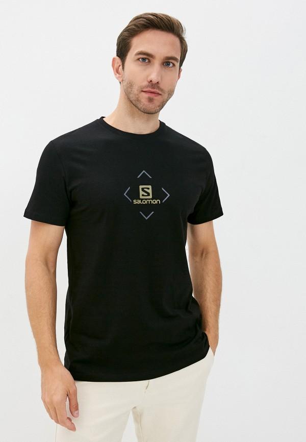 мужская спортивные футболка salomon, черная