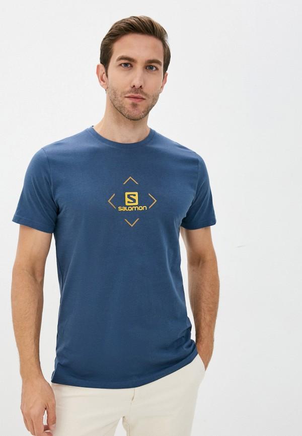 мужская спортивные футболка salomon, синяя