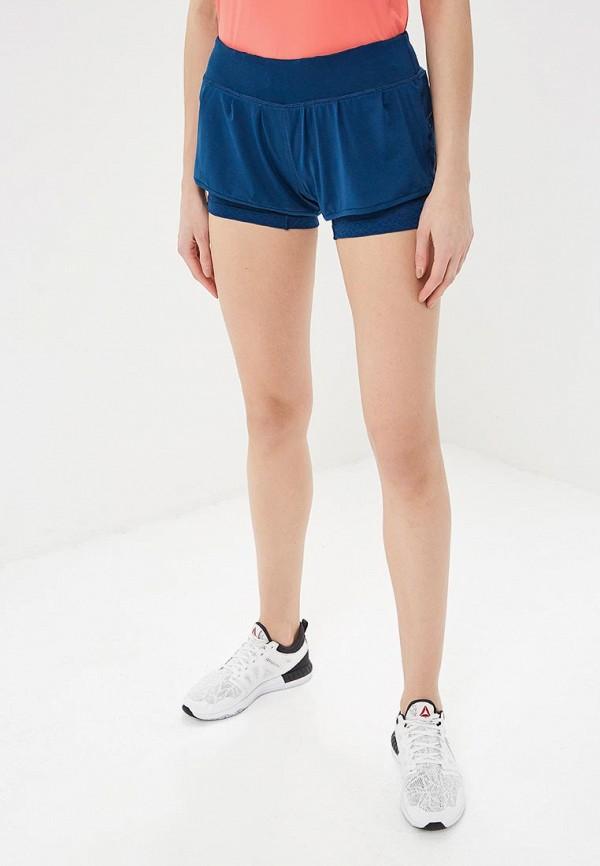 женские спортивные спортивные шорты salomon, синие