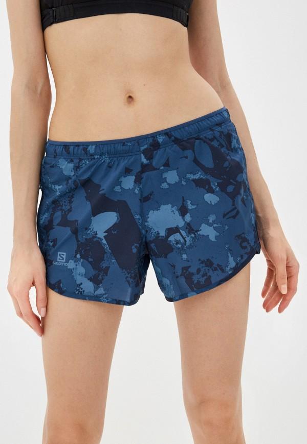 женские спортивные шорты salomon, синие