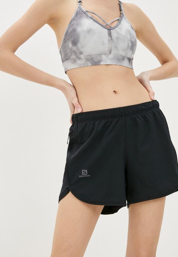 женские спортивные шорты salomon, черные