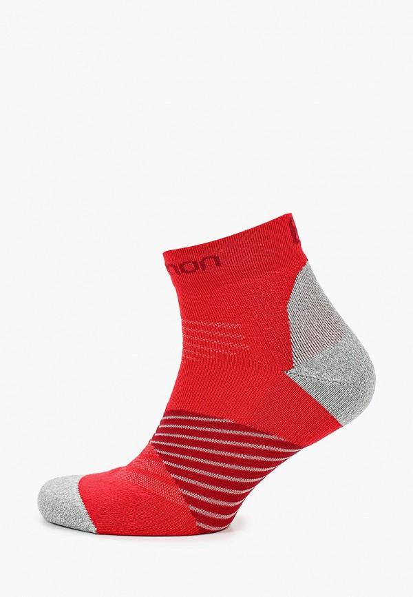 женские носки salomon, красные
