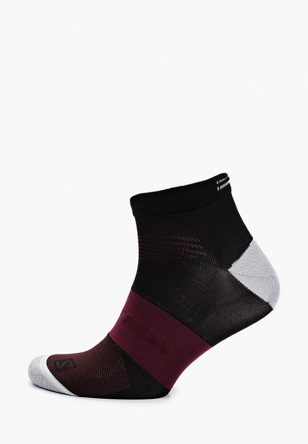женские носки salomon, бордовые