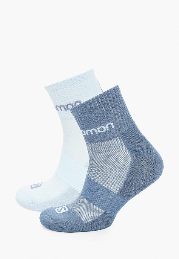 женские носки salomon, голубые