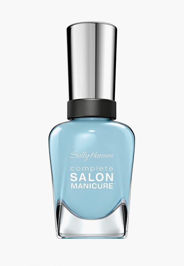 лак для ногтей sally hansen, голубой