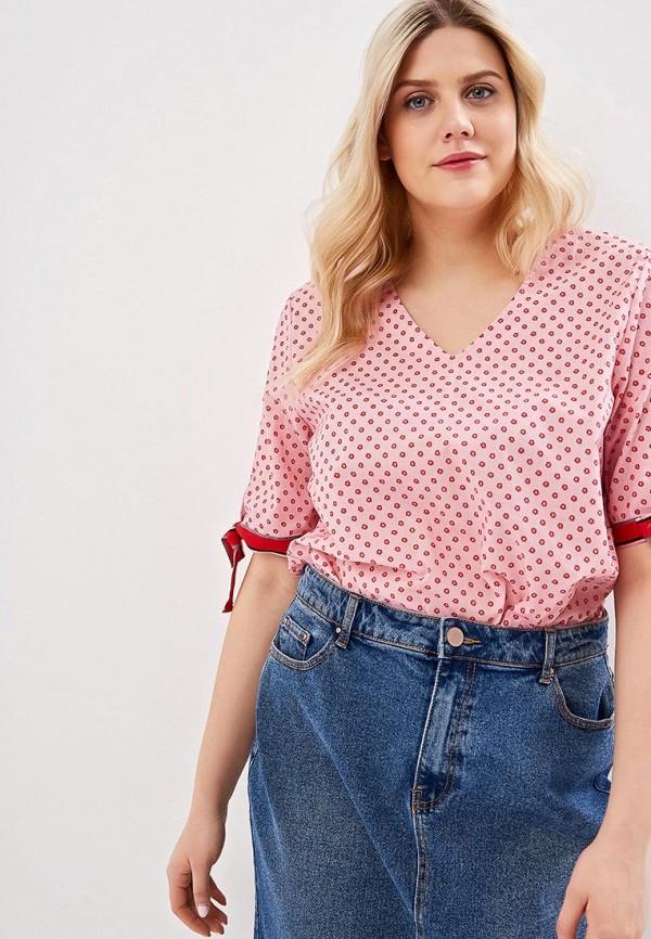 женская блузка samoon by gerry weber, розовая