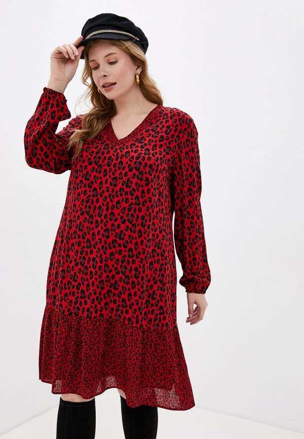 женское повседневные платье samoon by gerry weber, красное