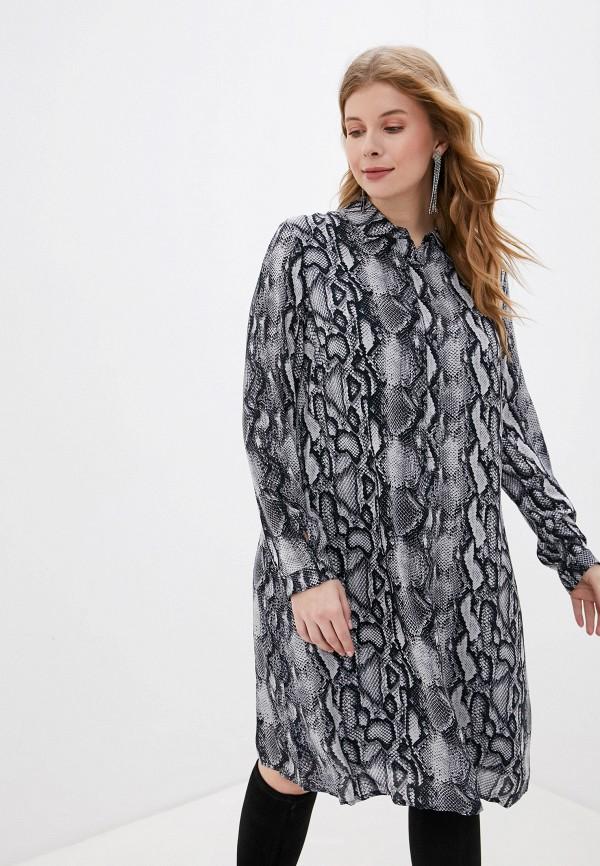 женское платье samoon by gerry weber, серое