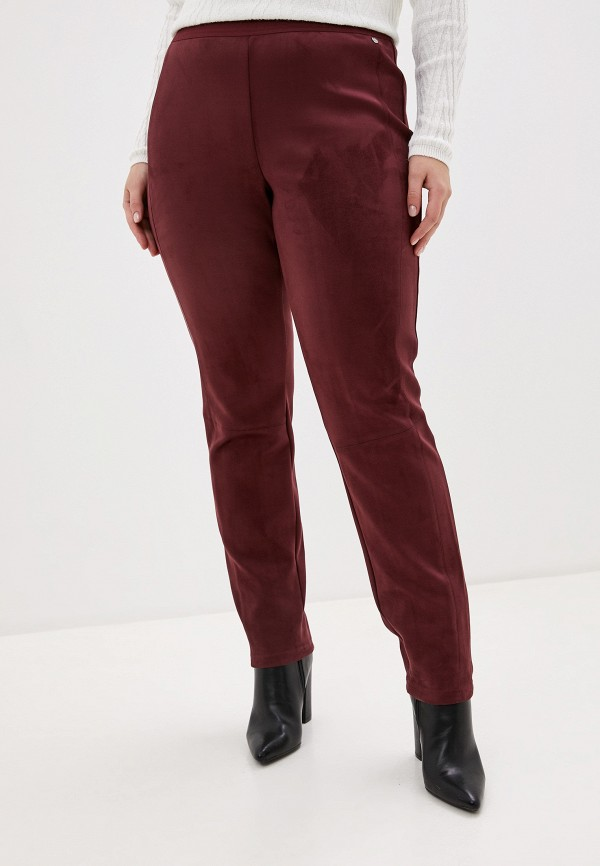 женские зауженные брюки samoon by gerry weber, бордовые