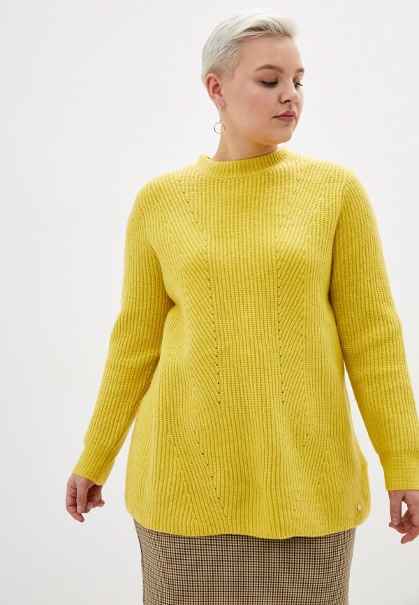 женский джемпер samoon by gerry weber, желтый