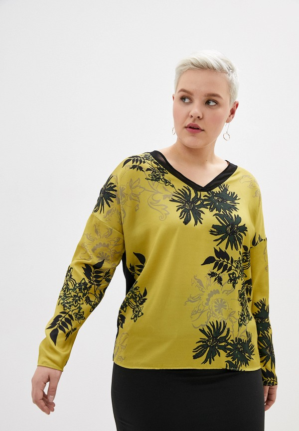 женская блузка samoon by gerry weber, хаки