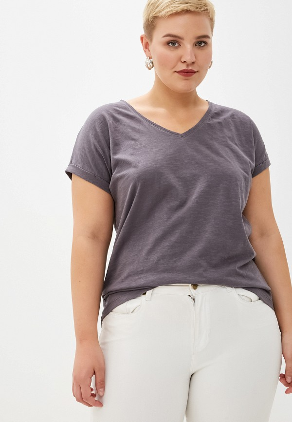 женская футболка samoon by gerry weber, серая