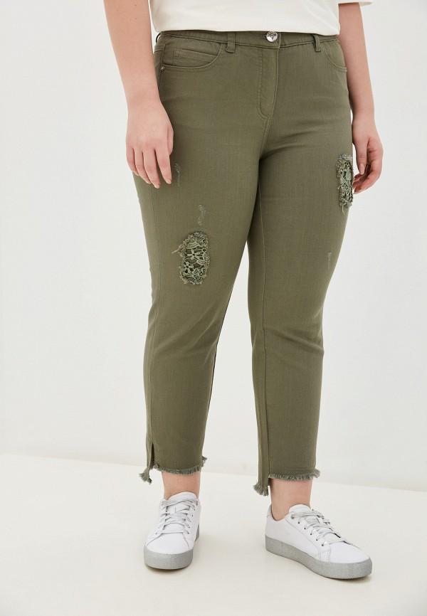 женские зауженные брюки samoon by gerry weber, хаки