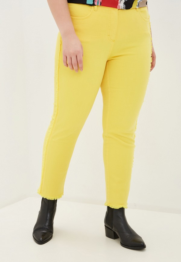 женские зауженные брюки samoon by gerry weber, желтые