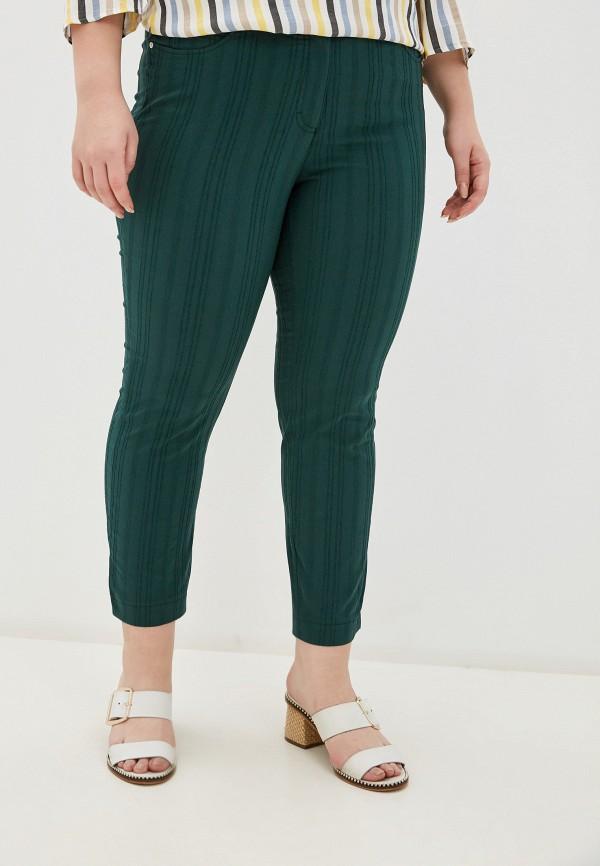 женские зауженные брюки samoon by gerry weber, зеленые