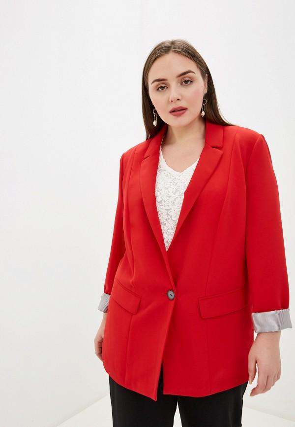 женский пиджак samoon by gerry weber, красный