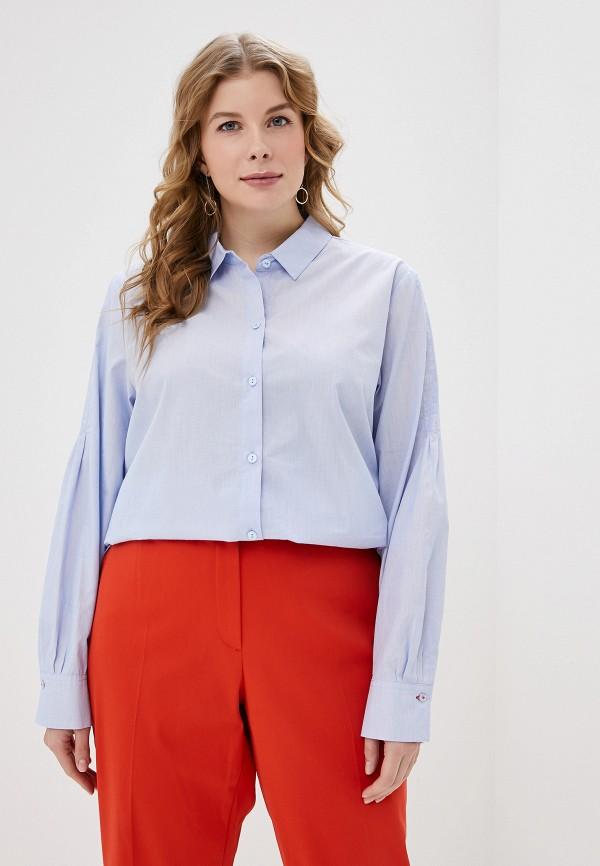 женская рубашка samoon by gerry weber, голубая