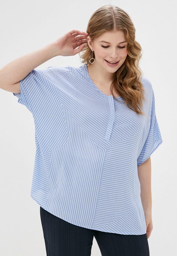 женская блузка samoon by gerry weber, голубая