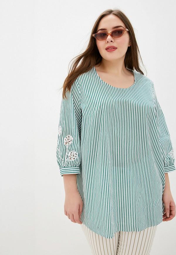 женская блузка samoon by gerry weber, зеленая