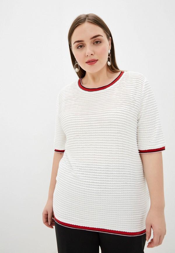 женская футболка samoon by gerry weber, белая