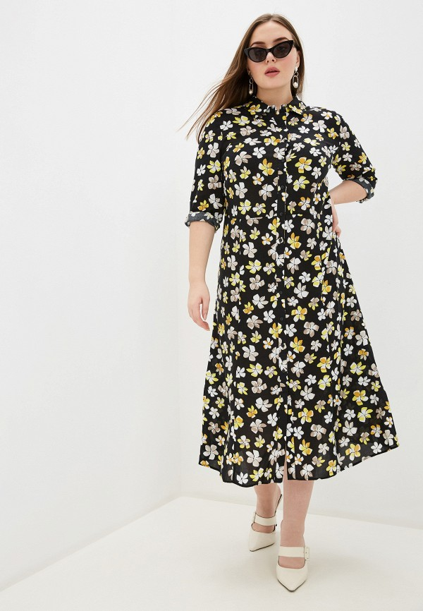 женское платье samoon by gerry weber, разноцветное